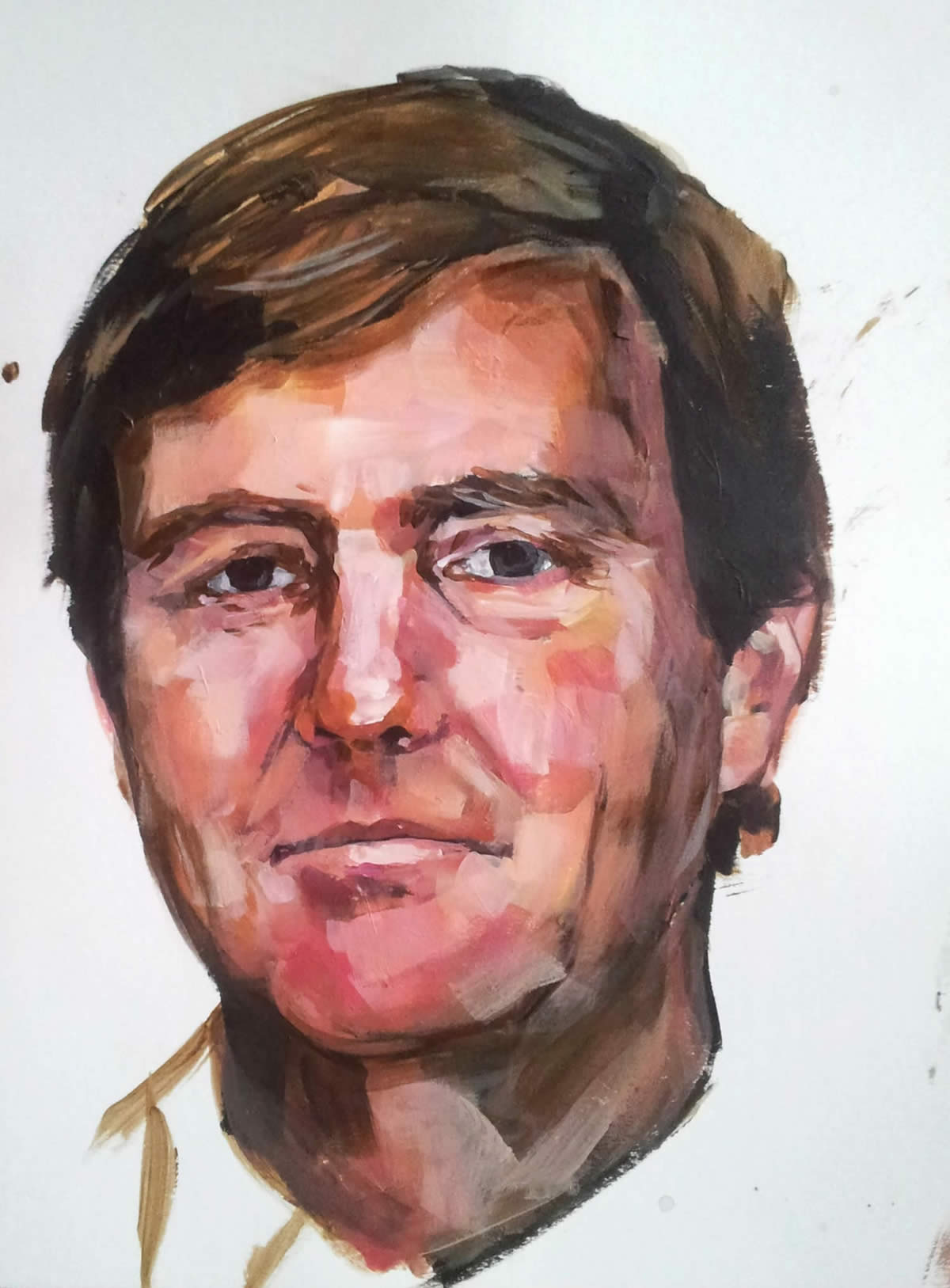 Willem Alexander, acrylic on paper 40/30 cm
