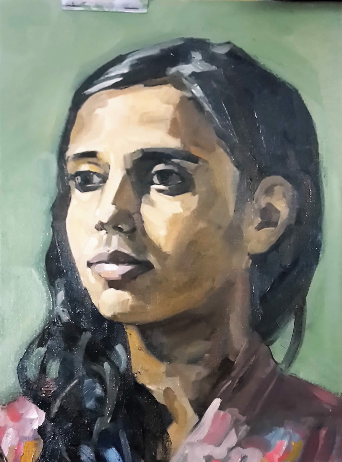 Portrait of Keerty, oil on canvas 40/30 cm 2016