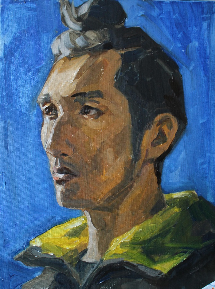 Portrait of Tashi oil on canvas 30/40 2016