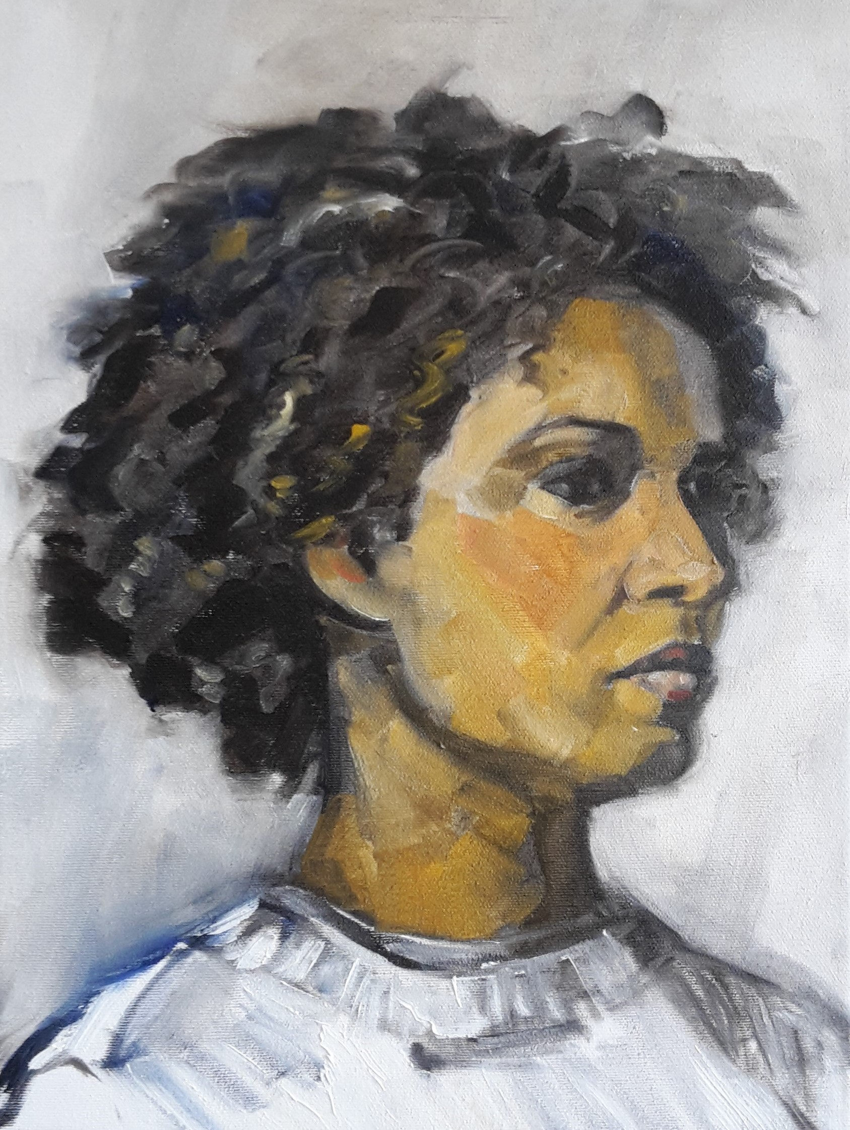 portrait of a Brasilian woman oil on canvas 30/40